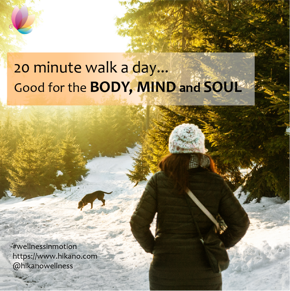 20 minutes of fresh air per day; good for the body and soul